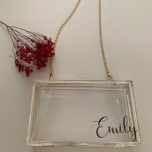 Personalized Clear Clutch Bag